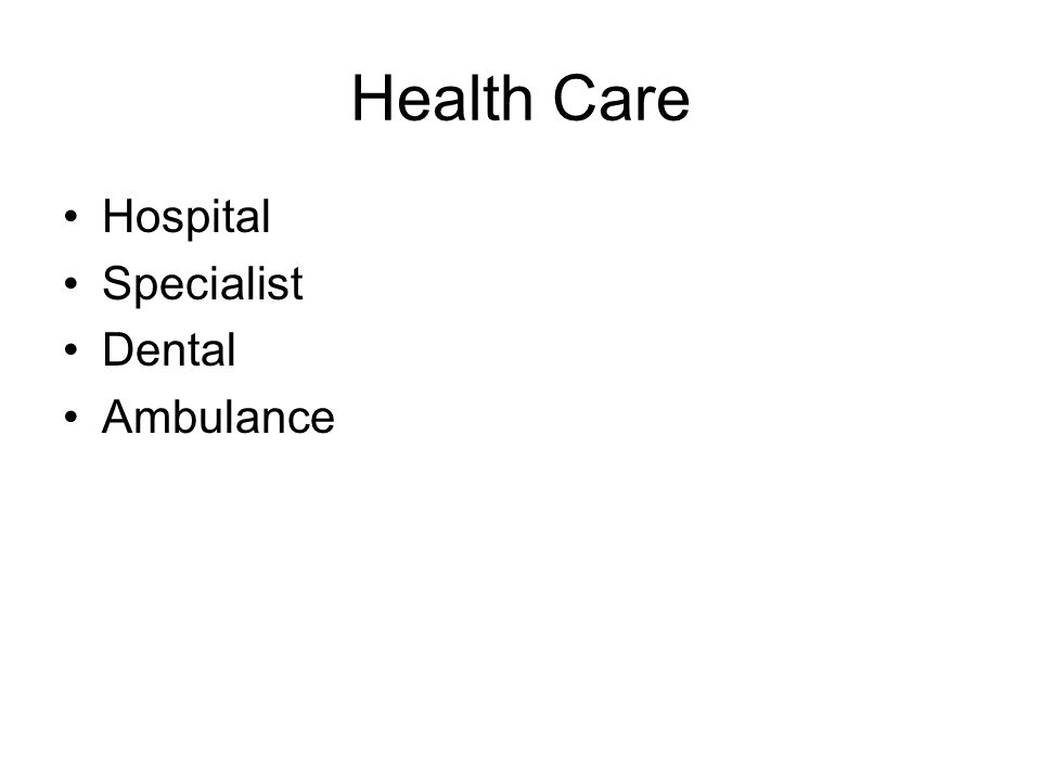 Health Care Hospital Specialist Dental Ambulance