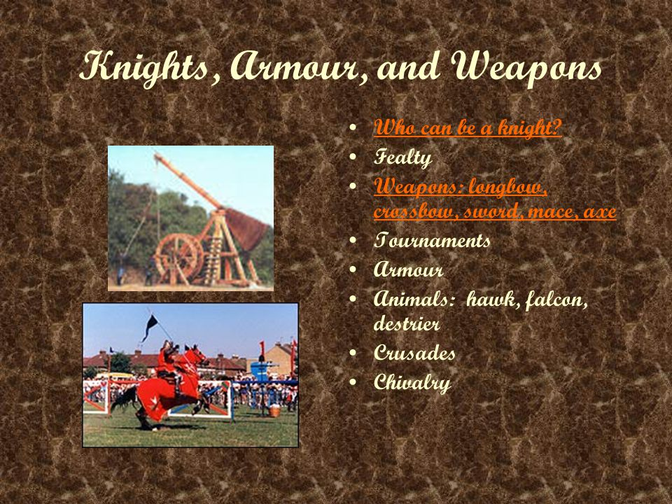 Knights, Armour, and Weapons Who can be a knight.