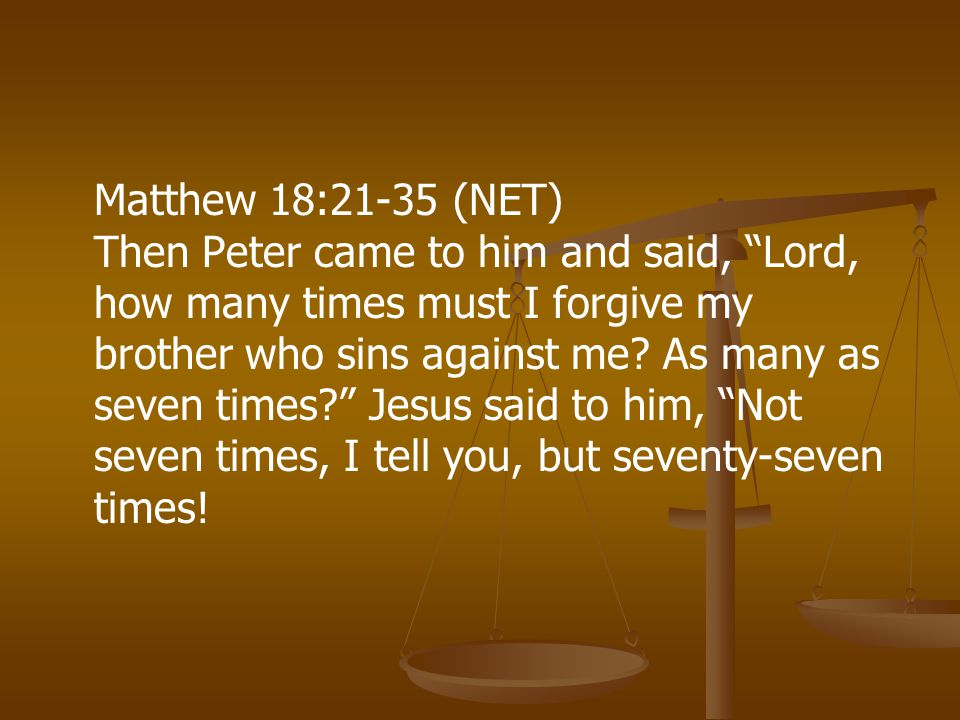 God forgives the whole debt. The slave owed more than he could repay.