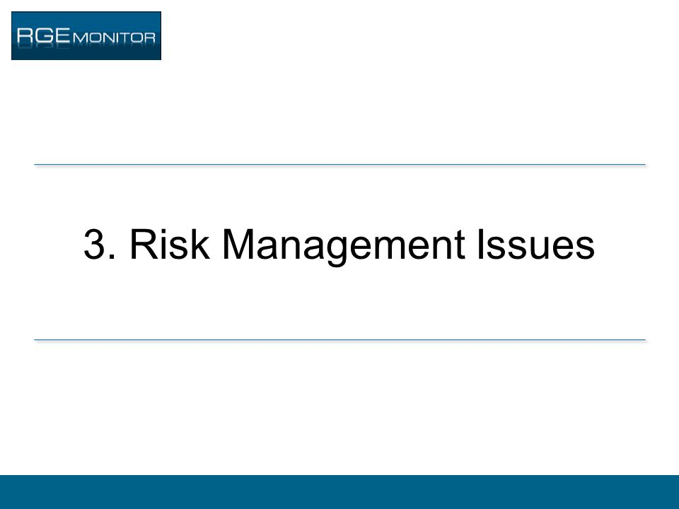 3. Risk Management Issues