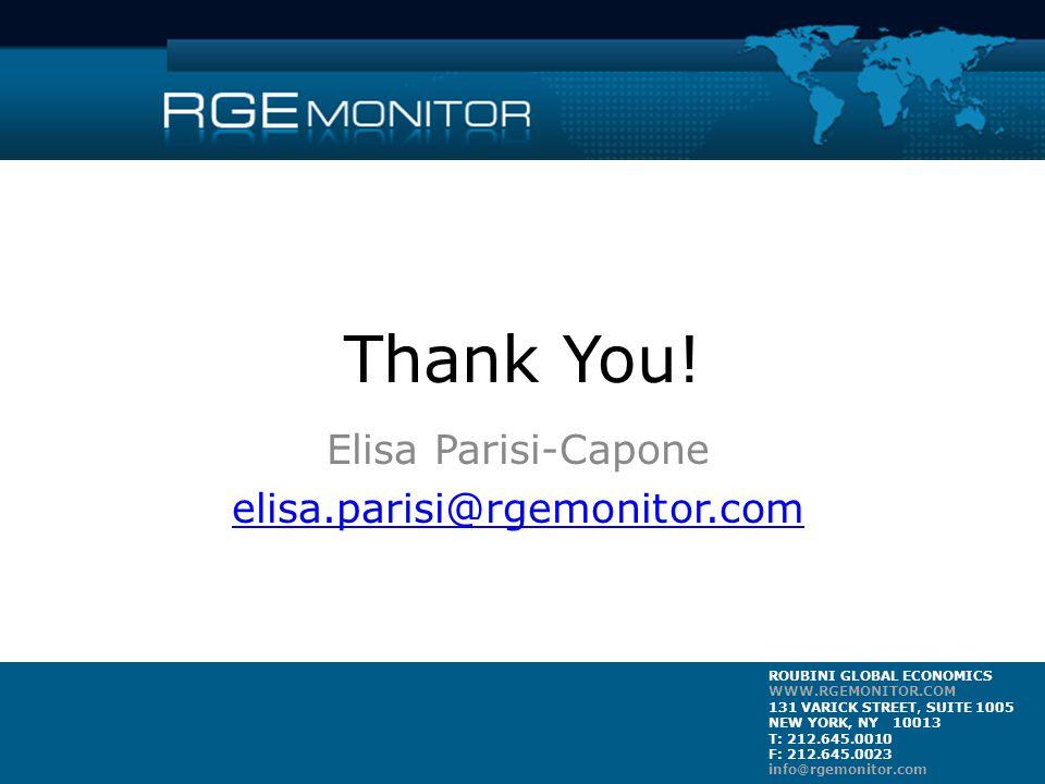 ROUBINI GLOBAL ECONOMICS WWW.RGEMONITOR.COM 131 VARICK STREET, SUITE 1005 NEW YORK, NY 10013 T: 212.645.0010 F: 212.645.0023 info@rgemonitor.com Thank