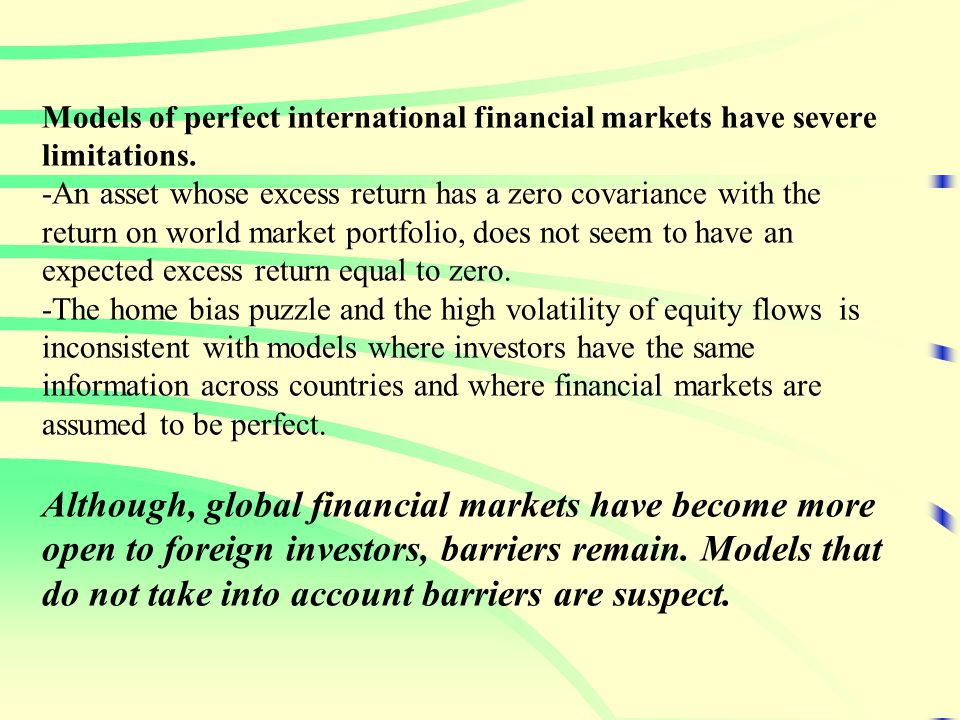 References (Contd.) Geographic versus Industrial Diversification Roll, R., 1992, Industrial structure and the comparative behavior of international stock market indexes, Journal of Finance 47, 3-42.