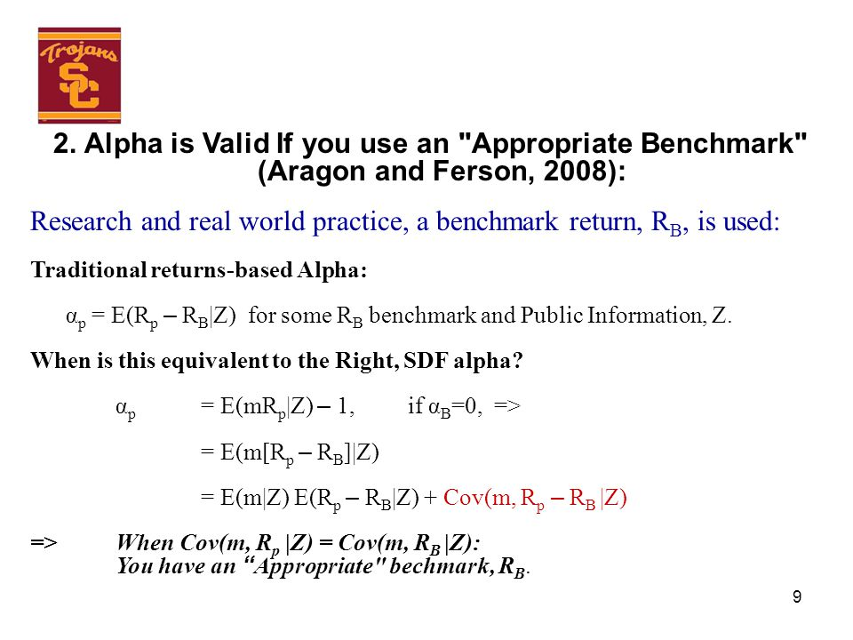 9 2. Alpha is Valid If you use an