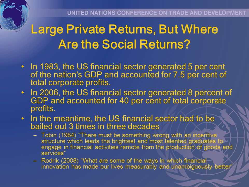 Large Private Returns, But Where Are the Social Returns.