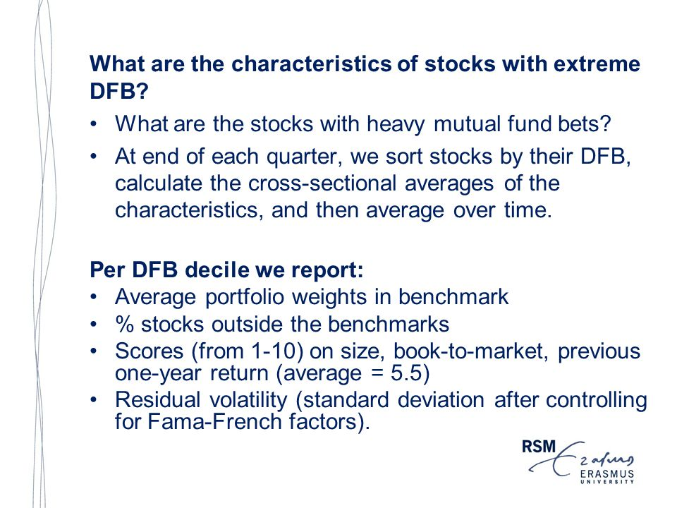 What are the characteristics of stocks with extreme DFB.
