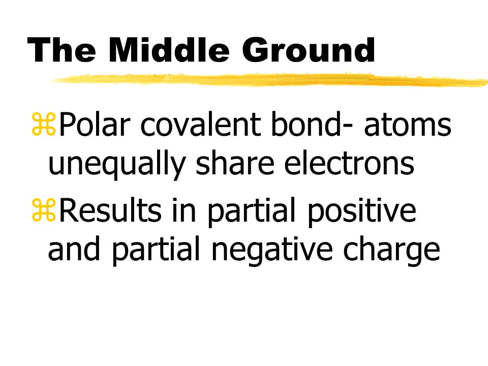 Two extremes zIonic bonding transfers electrons zCovalent bonding atoms share electrons equally