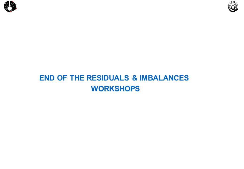 MULTLAB FEM-UNICAMP UNICAMP END OF THE RESIDUALS & IMBALANCES WORKSHOPS
