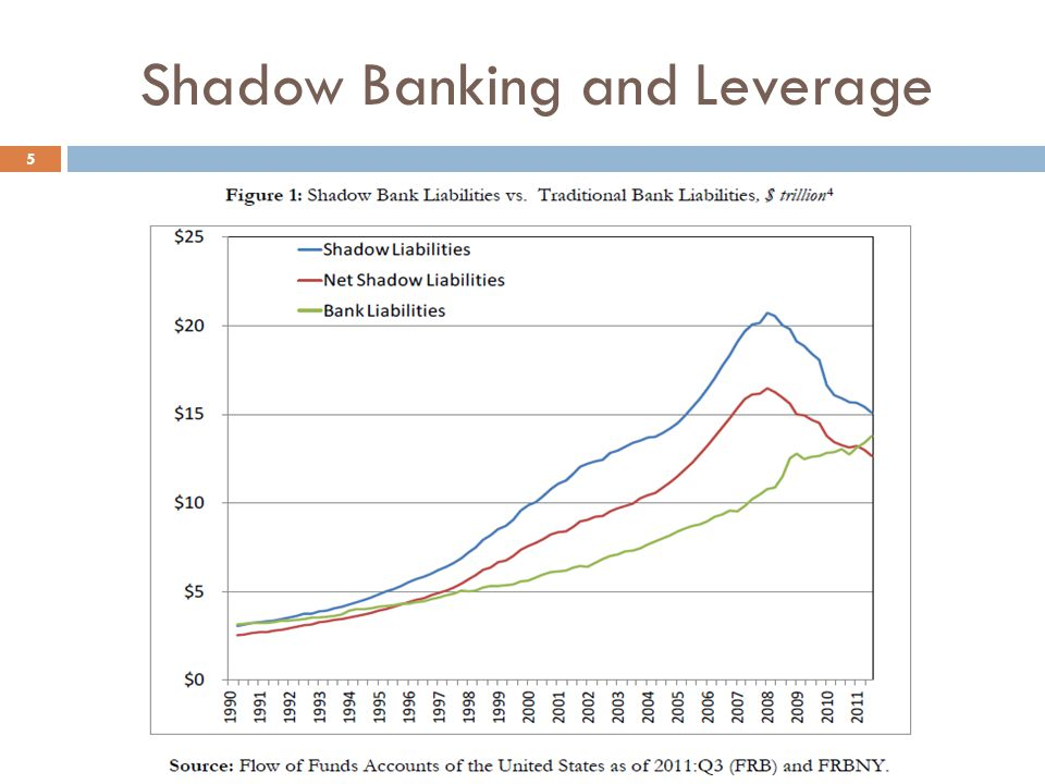 Shadow Banking and Leverage 5