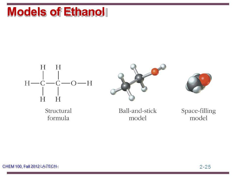 2-25 Models of Ethanol CHEM 100, Fall 2012 LA TECH