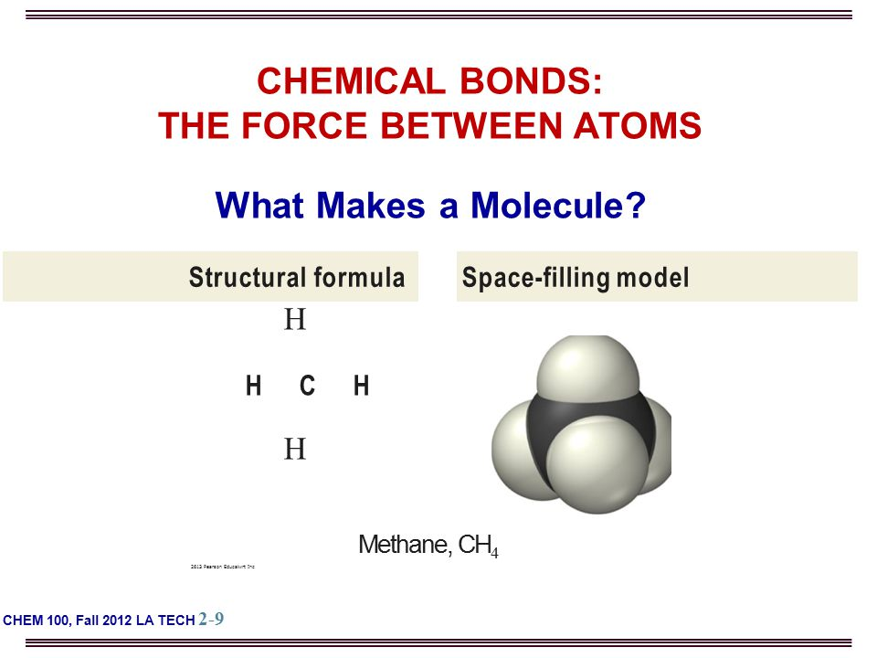 CHEMICAL BONDS: THE FORCE BETWEEN ATOMS What Makes a Molecule.