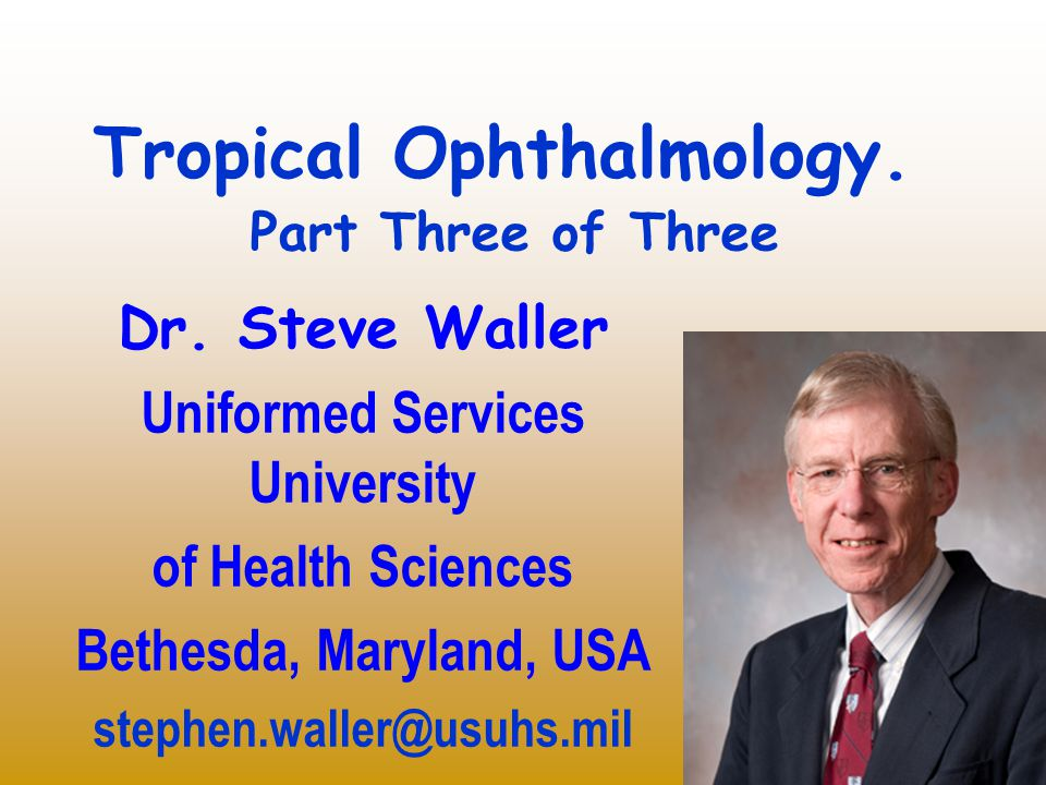 Unusual tropical eye diseases Not commonly found in U.S., even in teaching hospitals Five examples: – atypical tuberculosis (TB) – leprosy – manzanillo keratopathy – loa loa conjunctivitis – tarantula keratopathy