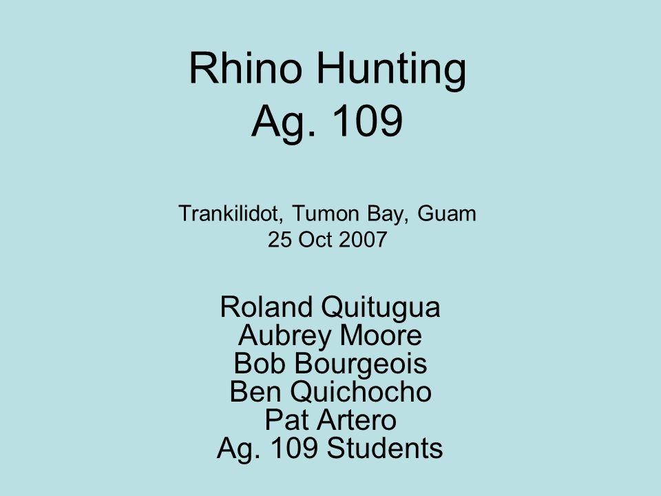 Rhino Hunting Ag.