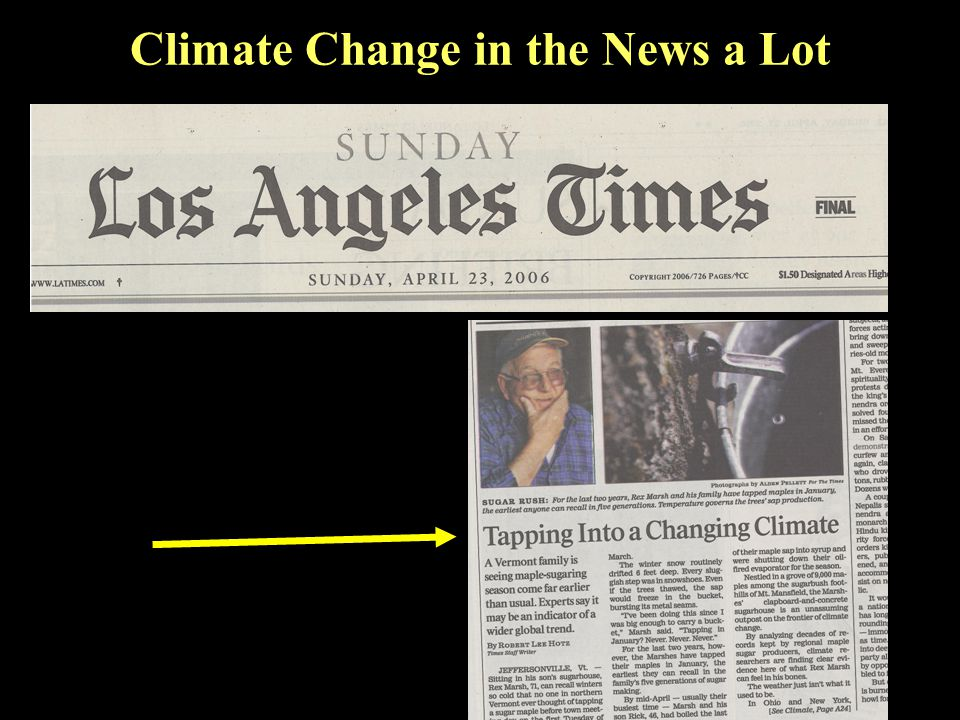 Climate Change in the News a Lot