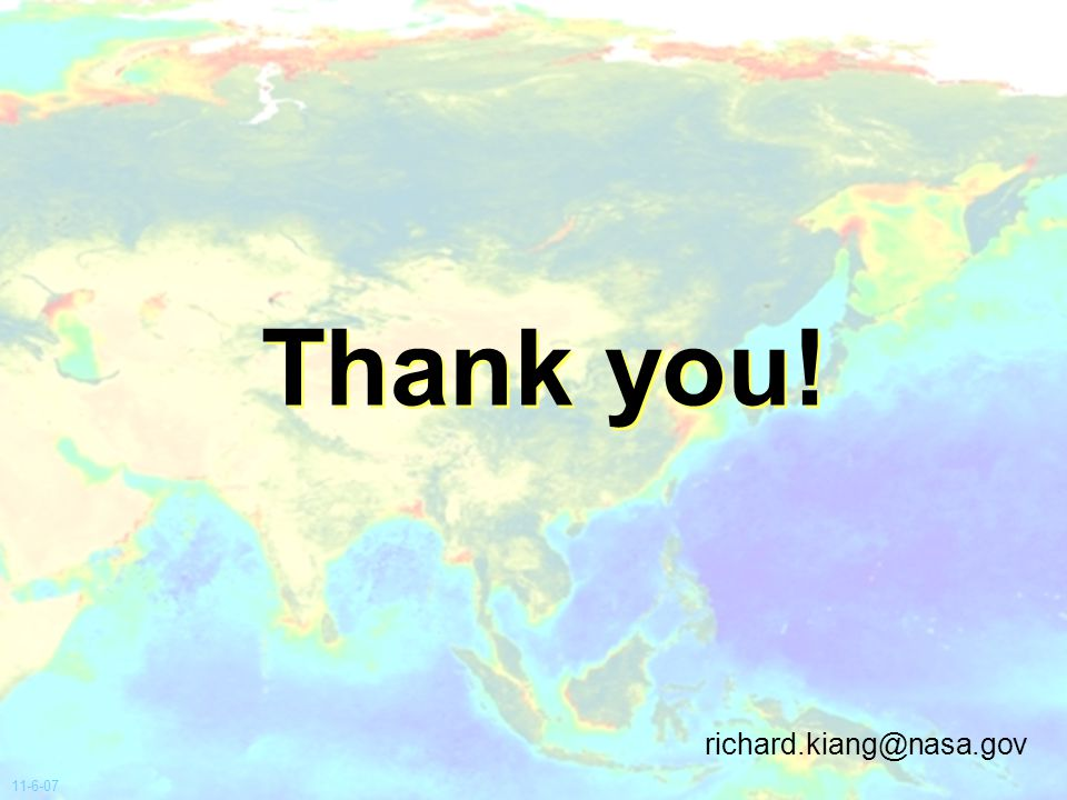 Thank you! 11-6-07 richard.kiang@nasa.gov
