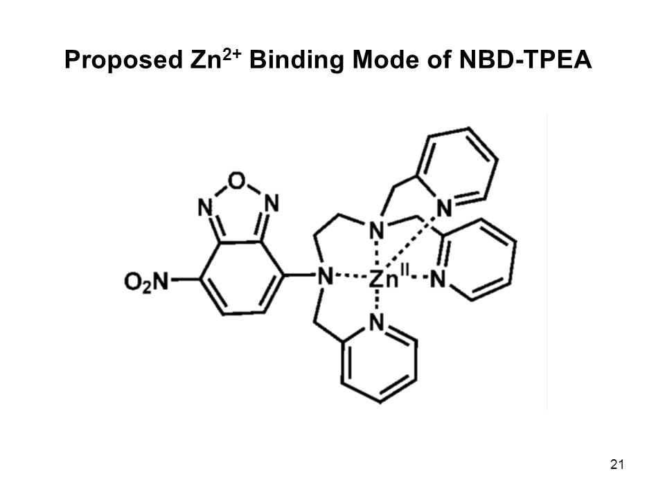 21 Proposed Zn 2+ Binding Mode of NBD-TPEA