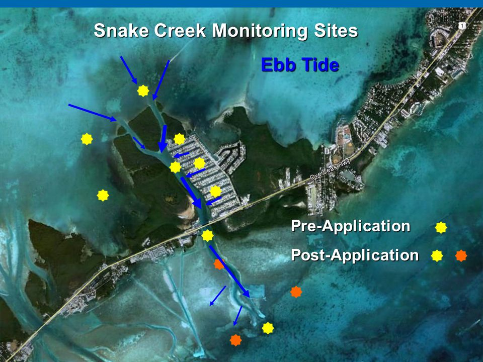 Snake Creek Monitoring Sites Ebb Tide Pre-ApplicationPost-Application
