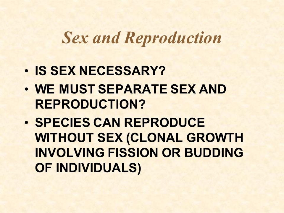Sex and Reproduction Non-sexual reproduction:  Descendants are genetically identical - clone  Colonial species produce a set of individuals that are genetically identical, known as a module; each module may have arisen from a sexually formed zygote