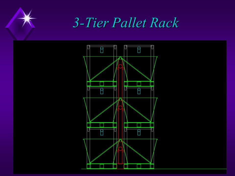 50 3-Tier Pallet Rack