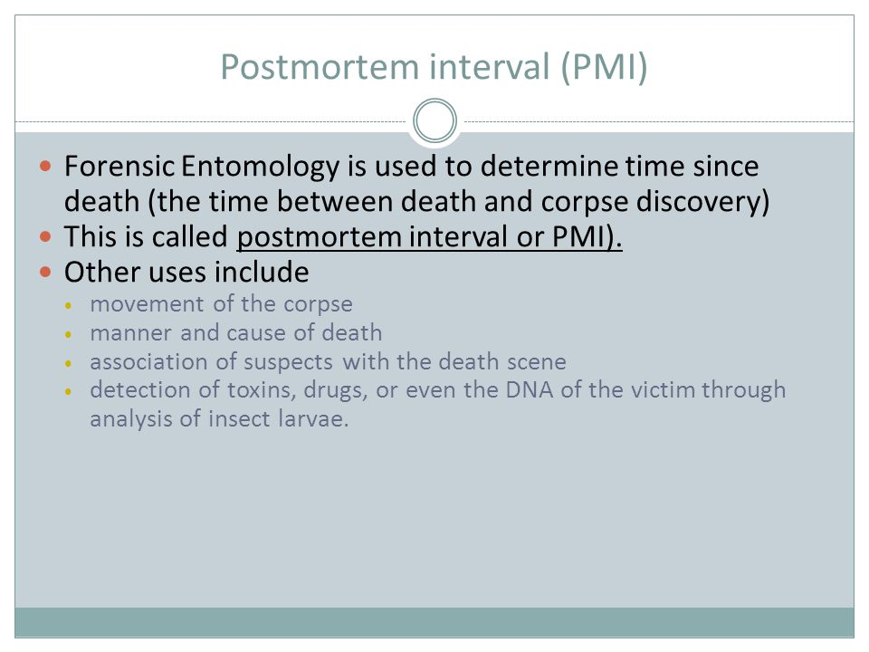 Review Questions 1-9 What is Forensic Entomology.