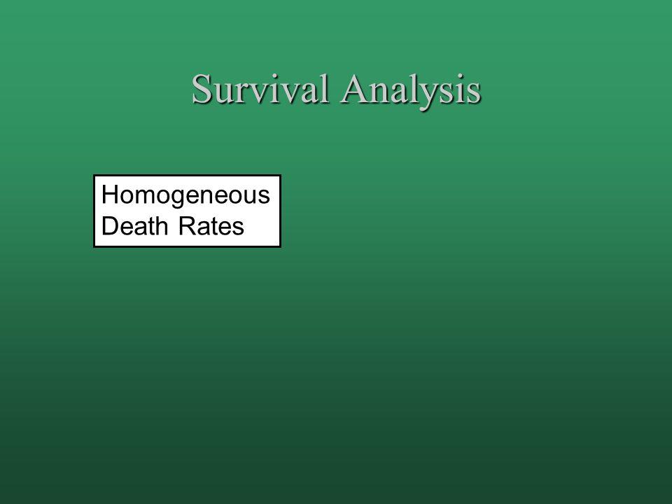 Homogeneous Death Rates