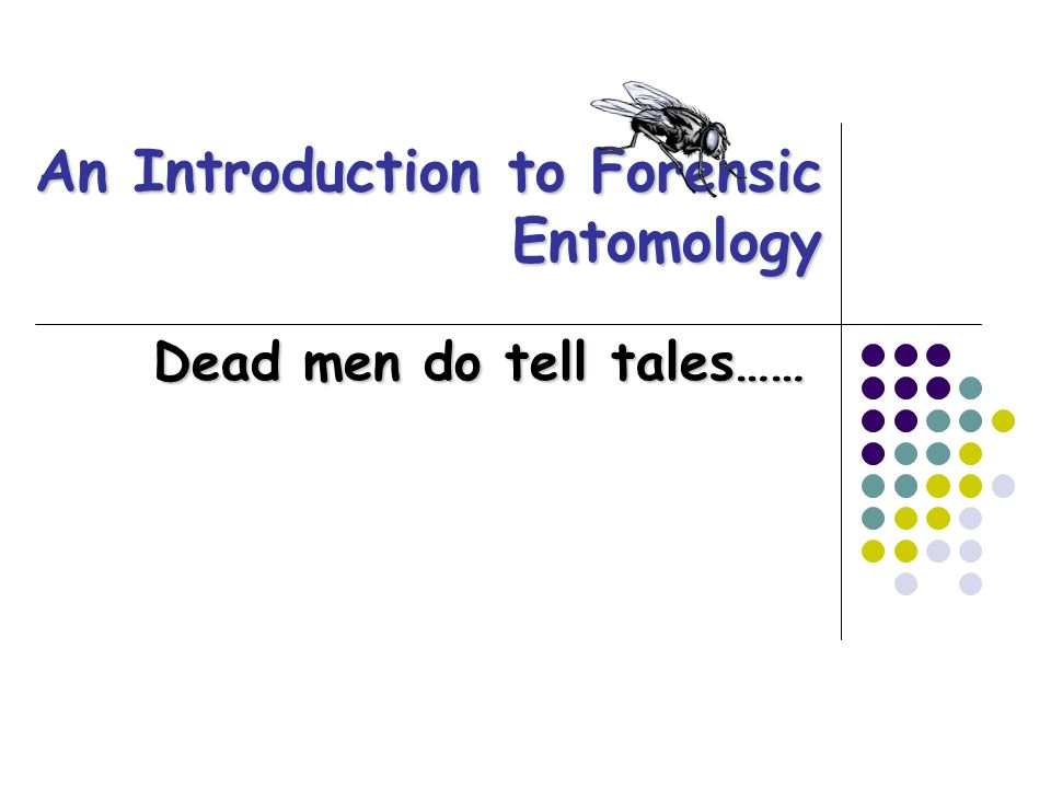 What is Forensic Entomology.Application of insects to legal issues.