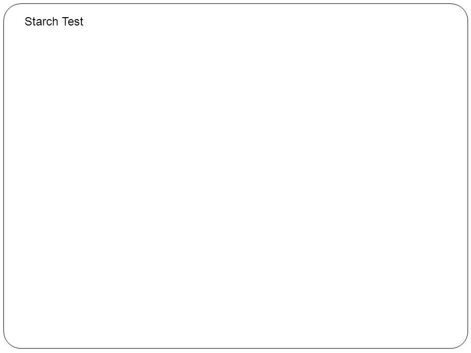 Starch Test