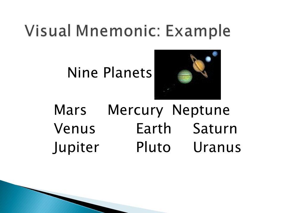 Nine Planets Mars Mercury Neptune Venus Earth Saturn Jupiter PlutoUranus