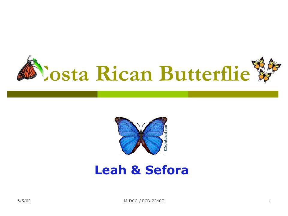 6/5/03M-DCC / PCB 2340C1 Costa Rican Butterflies Leah & Sefora