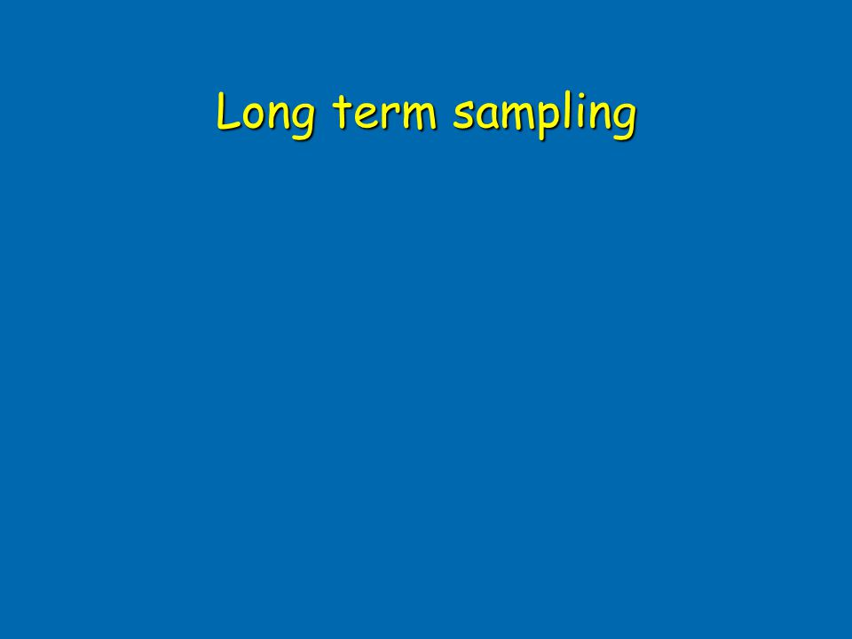 Long term sampling