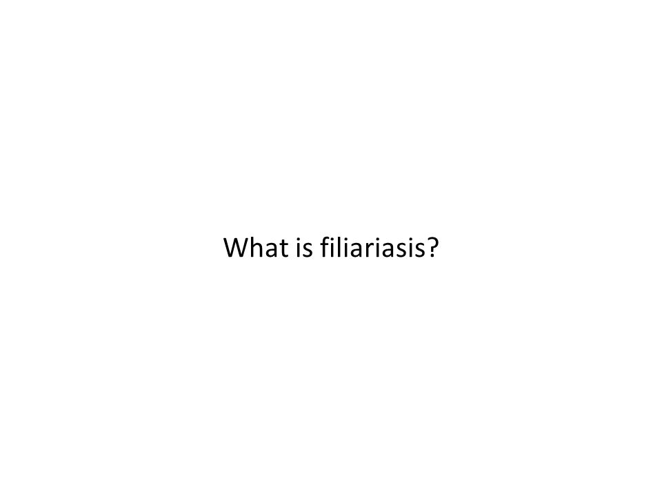What is filiariasis