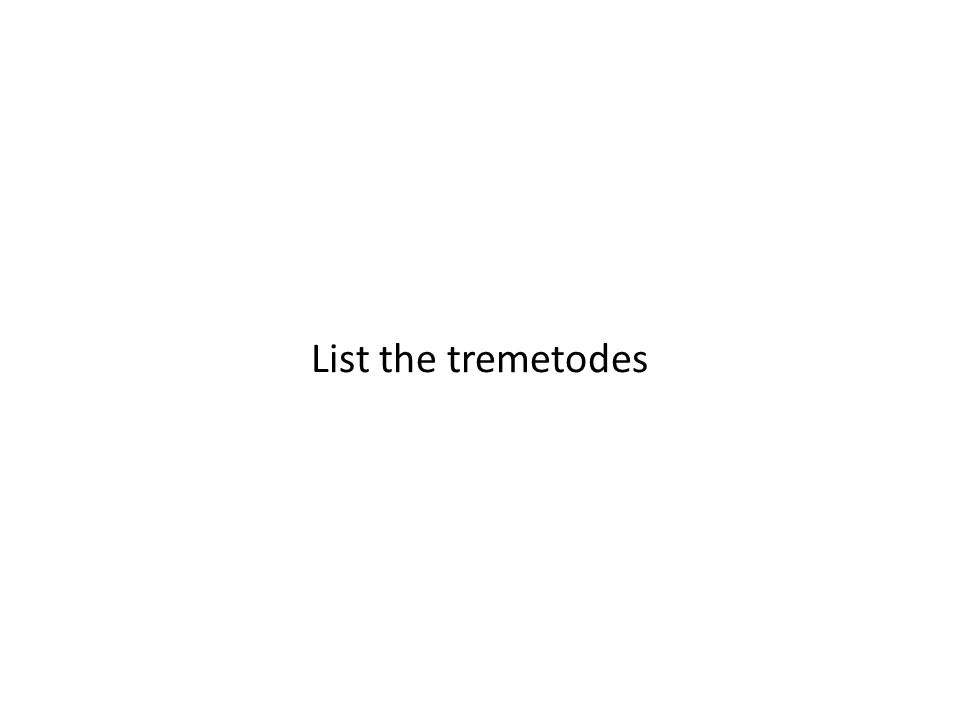 List the tremetodes