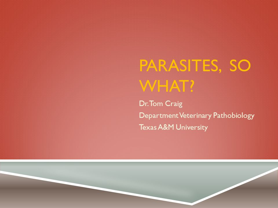 WHO ARE PARASITES.