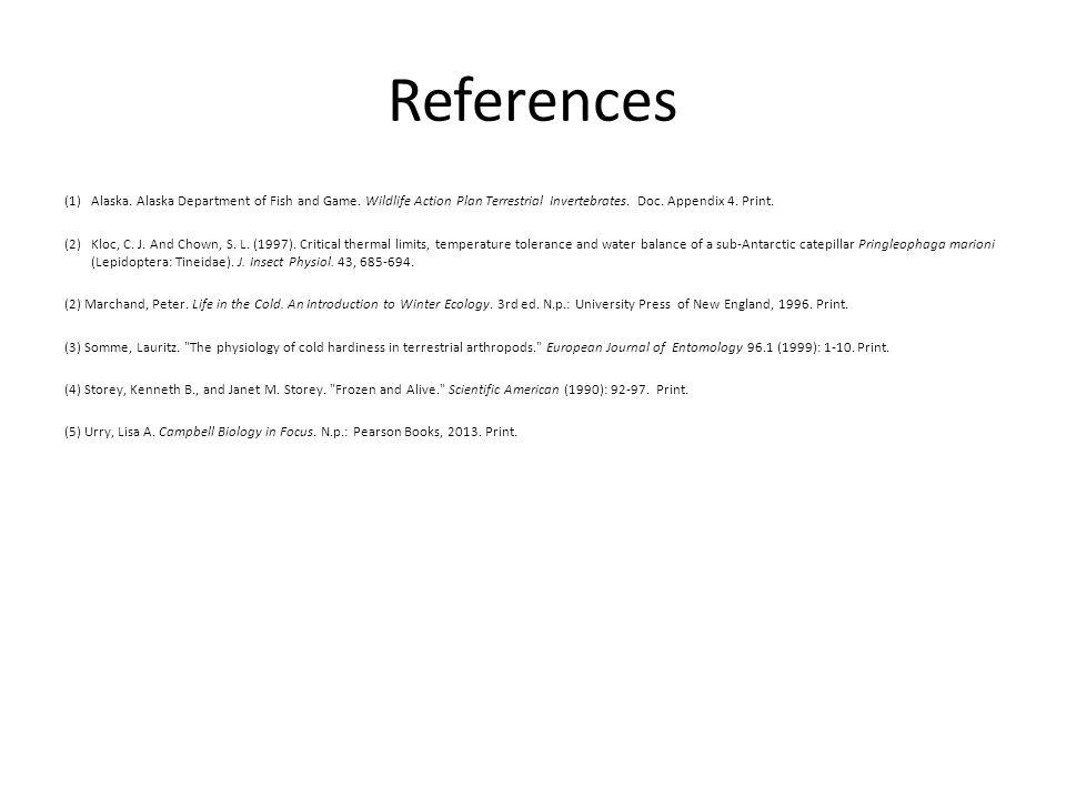 References (1)Alaska. Alaska Department of Fish and Game.