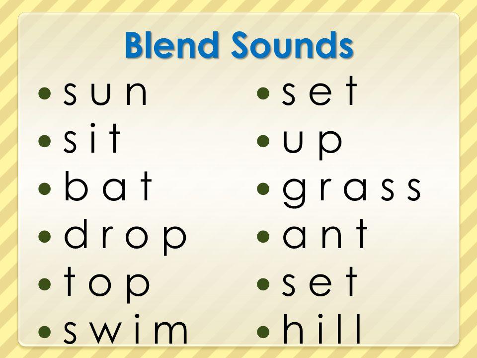 Blend Sounds s u n s i t b a t d r o p t o p s w i m s e t u p g r a s s a n t s e t h i l l