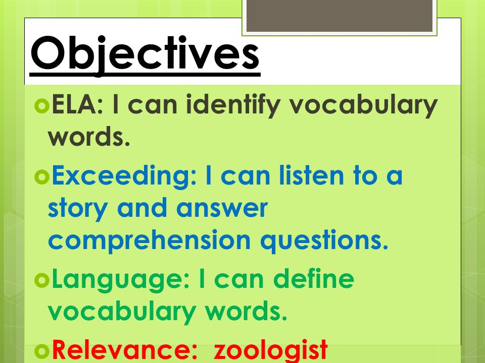 Vocabulary academic vocabulary Insect Larva pupa Nymphs Incomplete metamorphosis content vocabulary Information Question Text features Bold print Illustration Diagram Fact Opinion clarity Pay attention to the book text features.