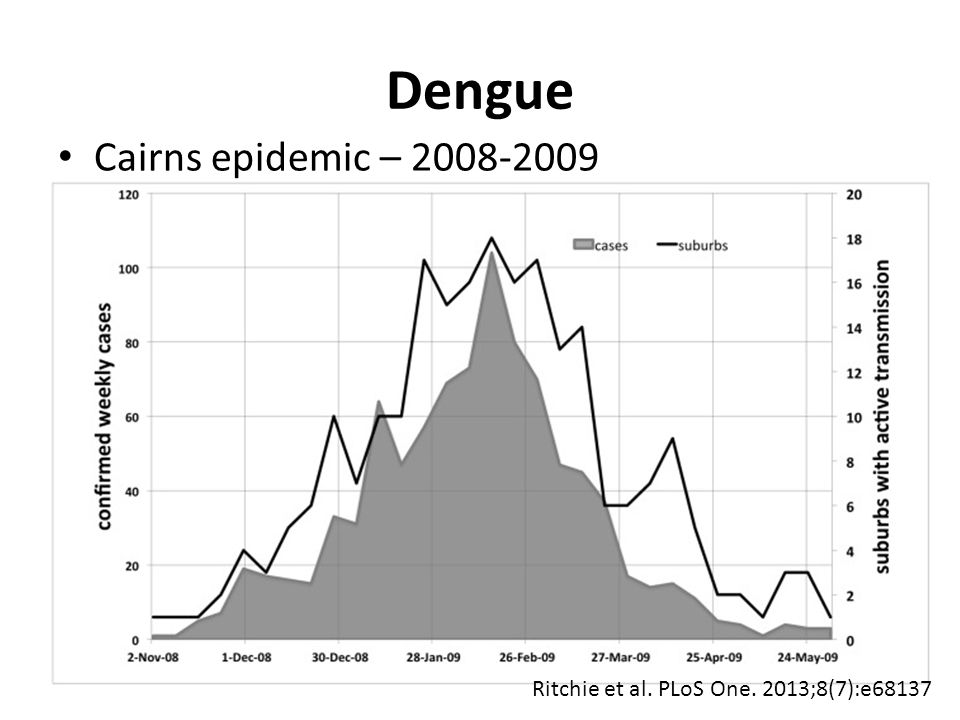 Dengue Cairns epidemic – 2008-2009 Ritchie et al. PLoS One. 2013;8(7):e68137
