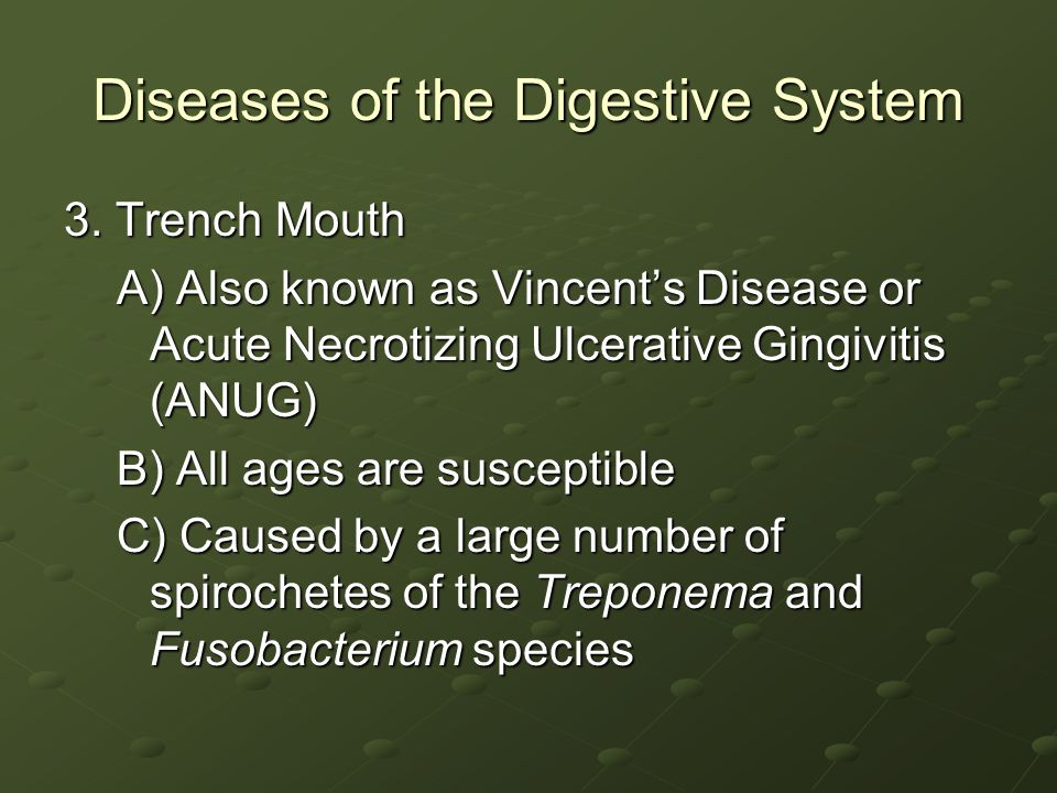 Diseases of the Digestive System 3.