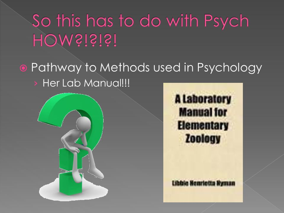  Pathway to Methods used in Psychology › Her Lab Manual!!!