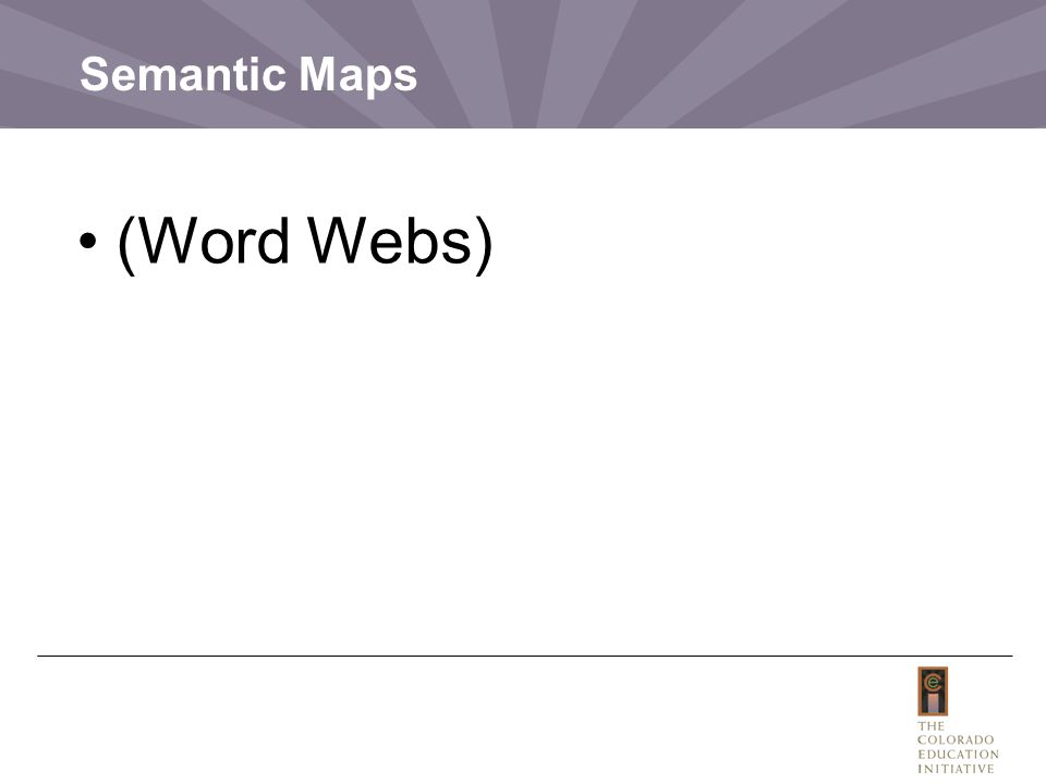 Semantic Maps (Word Webs)