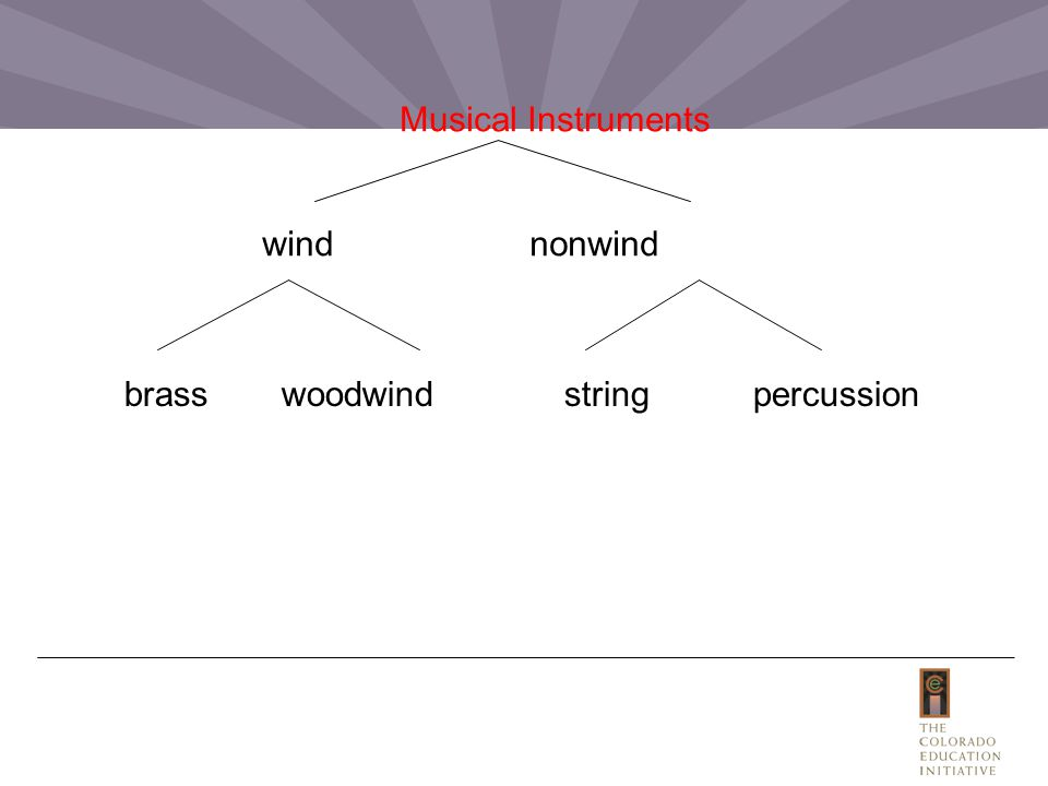 Musical Instruments wind nonwind brass woodwind stringpercussion