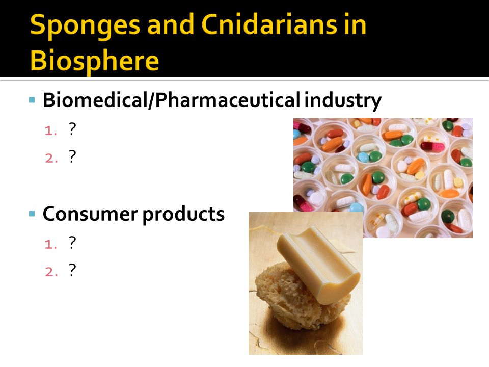  Biomedical/Pharmaceutical industry 1.? 2.?  Consumer products 1.? 2.?