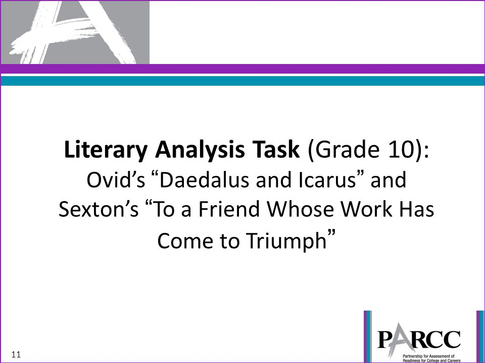 Literary Analysis Task (Grade 10): Ovid's Daedalus and Icarus and Sexton's To a Friend Whose Work Has Come to Triumph 11