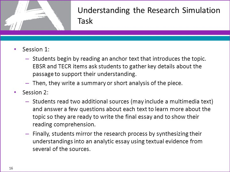 Session 1: – Students begin by reading an anchor text that introduces the topic.