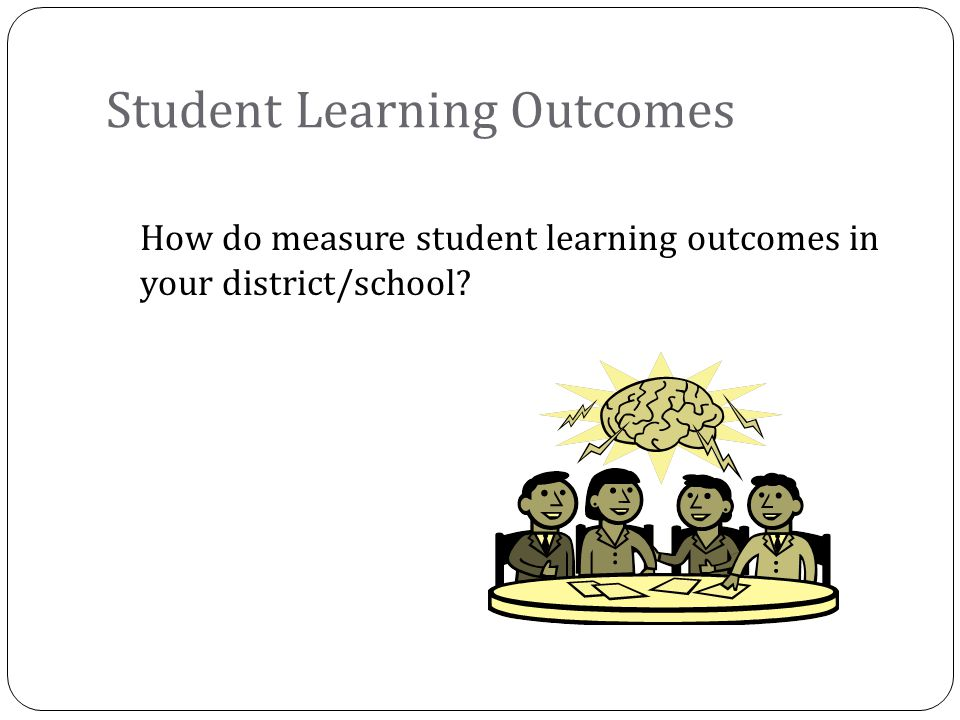 How do measure student learning outcomes in your district/school? Student Learning Outcomes