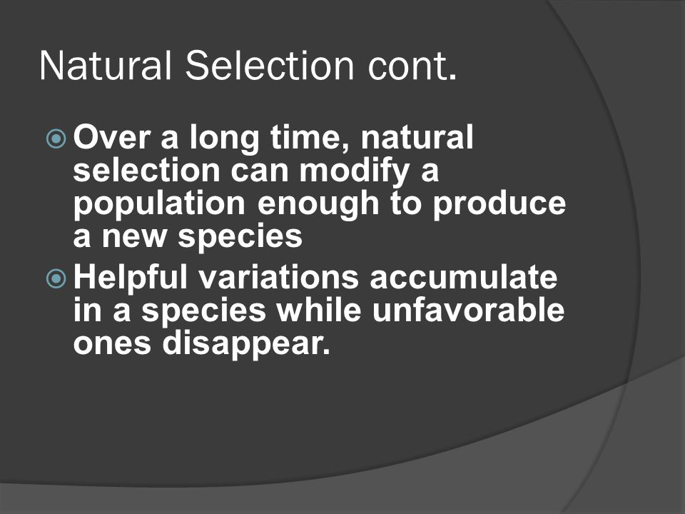 Speciation When a group of individuals remain separated from the rest of the species long enough to evolve different traits HOW this happens- Pangaea /Continental Drift Landform isolation- river, mountain, water.