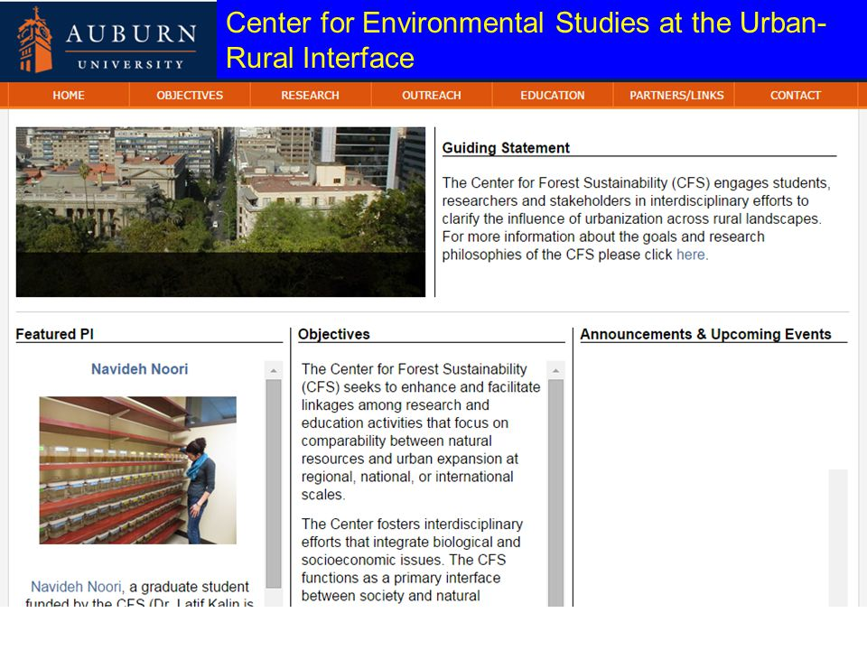 Center for Environmental Studies at the Urban- Rural Interface