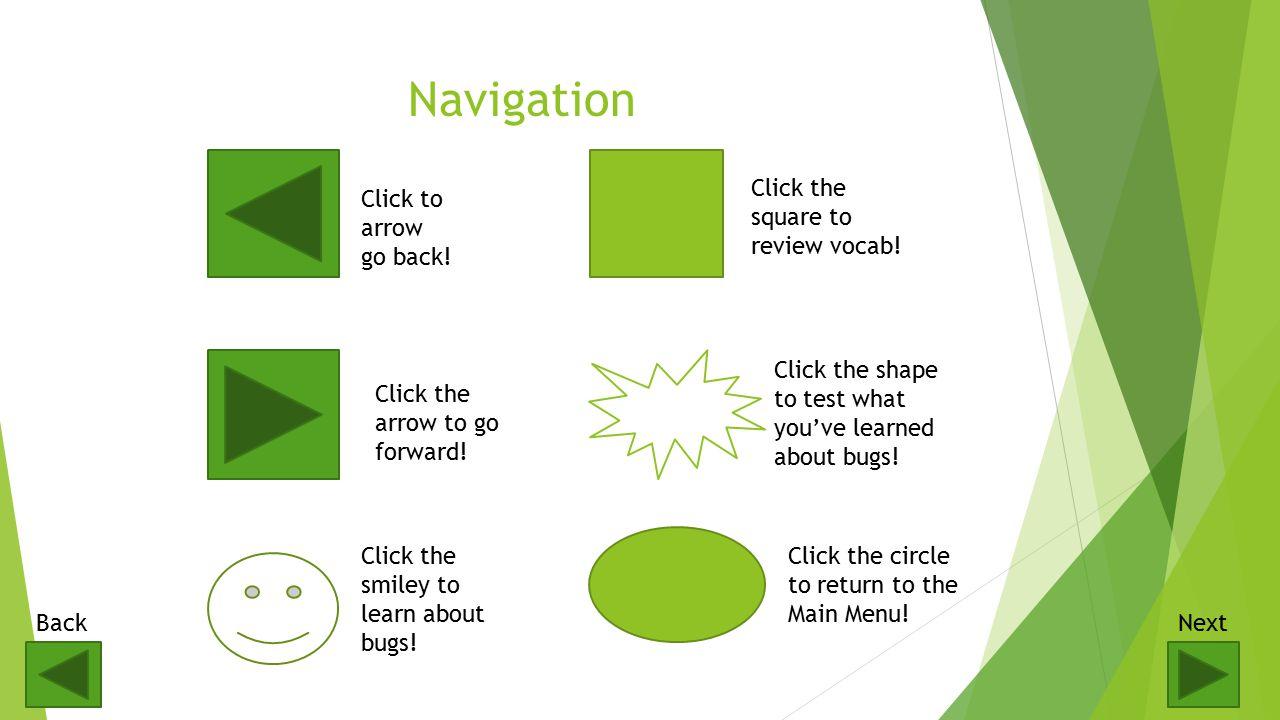 Navigation Click to arrow go back.Click the arrow to go forward.