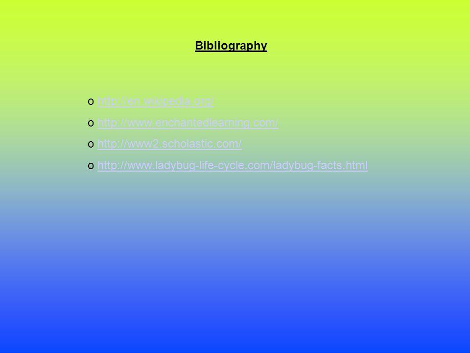 Bibliography o http://en.wikipedia.org/http://en.wikipedia.org/ o http://www.enchantedlearning.com/http://www.enchantedlearning.com/ o http://www2.sch