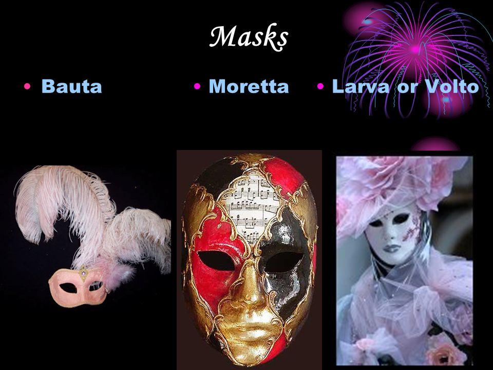 Masks Bauta Moretta Larva or Volto