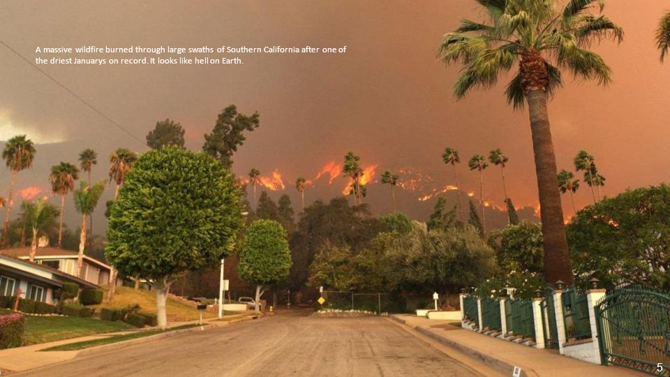California s drought is leading to dangerous wildfires, like this one near San Diego in May. 45